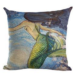 creative cartoon mediterranean mermaid printed