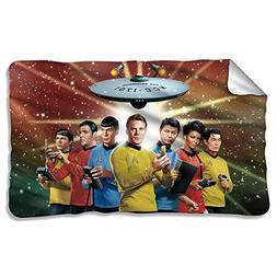 Original Crew -- Star Trek -- Fleece Throw Blanket