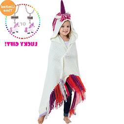 Brandream Crochet Unicorn Blanket for Kids/Toddler Blanket G