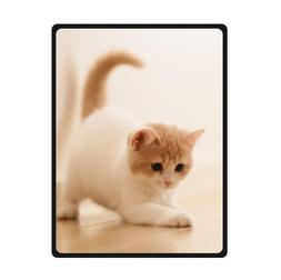Custom Cute Kitten Kitty Cat Animals Super Soft Warm Fleece