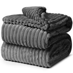 Cut Plush Fleece Throw Blanket Super Soft Lightweight Couch