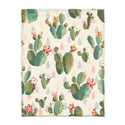 QH Cute Cactus Print Super Soft Throw Blanket for Bed Couch