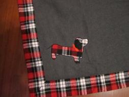 "DACHSHUND Baby DOG Checkered Throw Blanket - 50"" x 60"" NEW T"