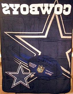 "Dallas Cowboys NFL 60""x80"" Micro Raschel Plush Throw"