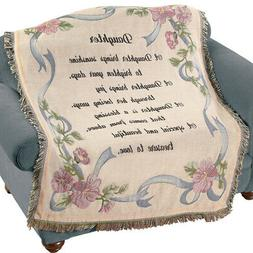 Daughter Floral Tapestry Throw Blanket