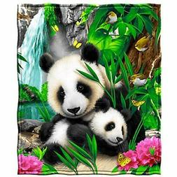 Dawhud Direct Precious Pandas Throws Fleece Blanket Home &am