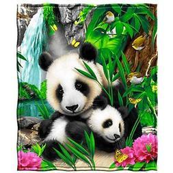 "Dawhud Throws Direct Precious Pandas Fleece Blanket Home "" K"