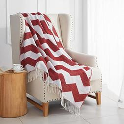 MERRYLIFE Decorative Knitted Throw Blanket  Sofa, Couch, or