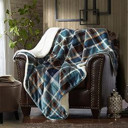 MERRYLIFE Decorative Sherpa Throw Blanket Ultra-Plush Comfor