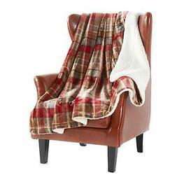 MERRYLIFE Decorative Sherpa Throw Blanket Ultra-Plush Comfor