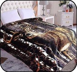 deer animal mink blanket throw bedspread comforter