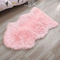 Ojia Faux Sheepskin Fur Rug Soft Fluffy Carpets Chair Couch