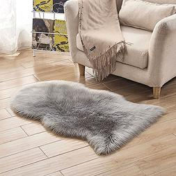 LOCHAS Deluxe Super Soft Fluffy Shaggy Home Decor Faux Sheep