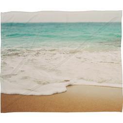 Deny Designs Bree Madden, Ombre Beach, Fleece Throw Blanket,