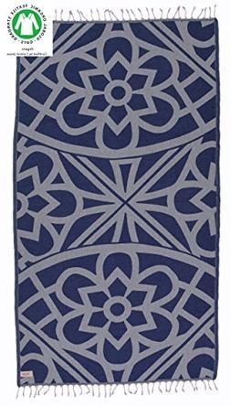 Bersuse 100% Organic Cotton Santorini Turkish Towel - 37X70