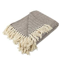 dii cotton chevron herringbone throw