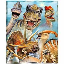 Dinosaurs Selfie Fleece Throw Blanket Home &amp Kitchen