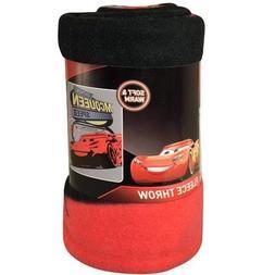 """Disney Cars 3 Blanket Fleece Throw Lightning Mcqueen 46""""x60"""""""