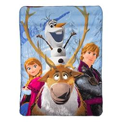 "Disney's Frozen, ""Out in The Cold"" Fleece Throw Blanket, 46"""