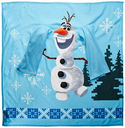 Disney Frozen Olaf Made of Snow Youth Comfy Throw Blanket wi