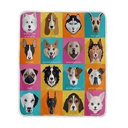 ALAZA Dog Blanket Luxury Throw Personalized Stylish Fuzzy So