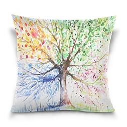 ALAZA Double Sided Colorful Tree of Life Cotton Velvet Throw