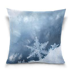 Double Sided Seasonal Winter Beautiful White Snowflakes Cott