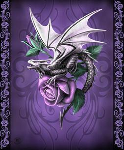 Anne Stokes Dragon Beauty Silk Touch Dragon Throw with Sherp