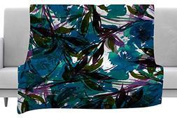 KESS InHouse Ebi Emporium Floral Fiesta Teal Watercolor Patt