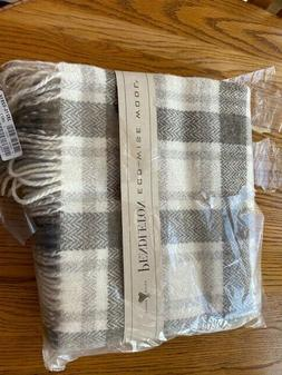 Pendleton Eco-Wise Washable Wool Fringe Throw Blanket Plai