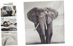 Elephant Sherpa Throw Blanket Animal Bedding Blanket 50 x 60
