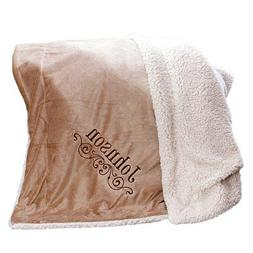"""GiftsForYouNow Embroidered Personalized Sherpa Blanket, 50"""""""