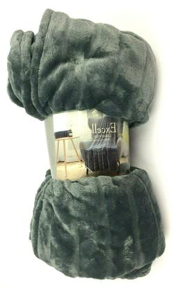 """Excellence Luxurious Throw 60"""" x 80"""" Supersoft Warm 100% Pol"""