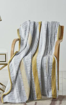 Extra Heavy and Plush Oversized Throw Blanket  - Summer Stri