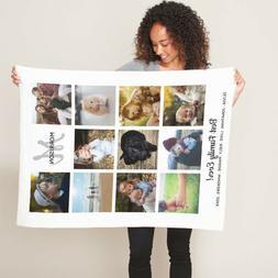 Fast Delivery Super Soft Flannel Fleece Custom Photo Blanket