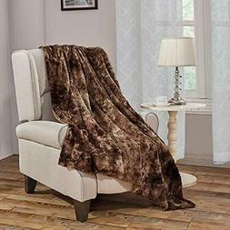Faux Fur Bed Blanket Soft Cozy Warm Fluffy Variation Print M