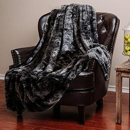 Chanasya Faux Fur Bed Blanket | Super Soft Fuzzy Light Weigh