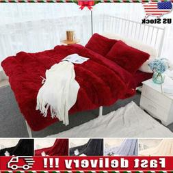 Faux Fur Blanket Long Pile Throw Sofa Bed Super Soft Warm Sh