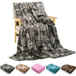 faux fur blanket soft warm bed sofa