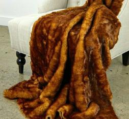 Faux Fur Fox Soft Cuddle Throw Blanket 3'x5'