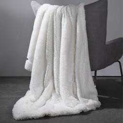 Bedsure Faux Fur Reversible Sherpa Throw Blanket for Sofa, C