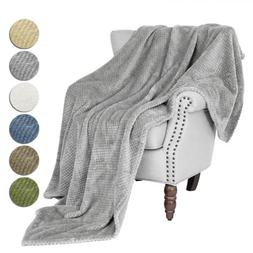 faux fur reversible throw sherpa soft thicken