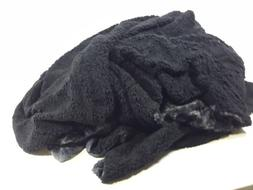 faux fur reversible tie dye sherpa throw