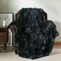 Bedsure Faux Fur Reversible Tie-Dye Sherpa Throw Blanket For