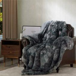 Bedsure Faux Fur Reversible Tie-dye Sherpa Twin Size Shaggy