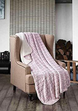 "Regal Comfort® Faux Fur™ Sherpa Oversized Twin Throw 50"""