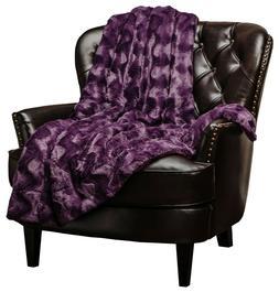 Chanasya Faux Fur Soft Wave Embossed Pattern Throw Blanket f
