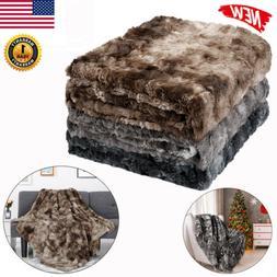Faux Fur Super Soft Warm Plush Fleece Blanket Throw Rug Sofa