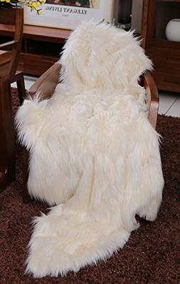 Lindsey Home Fashion Faux Fur Throw, Blankets for Bed Super