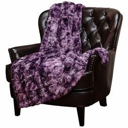 Chanasya Faux Fur Throw Blanket Warm Plush Soft Fluffy Sherp